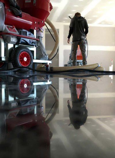 Polished Concrete floors in progress